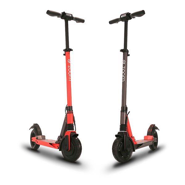 Zoom Stryder EX e-scooter rot und schwarz