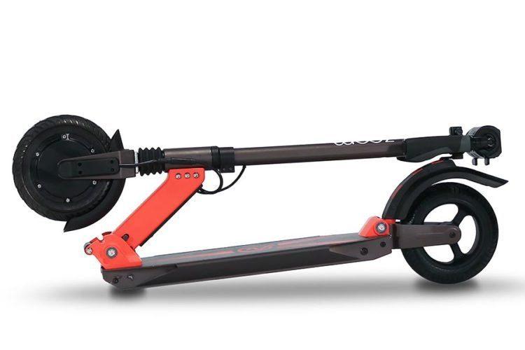 Zoom Stryder EX elektro-scooter zusammengeklappt