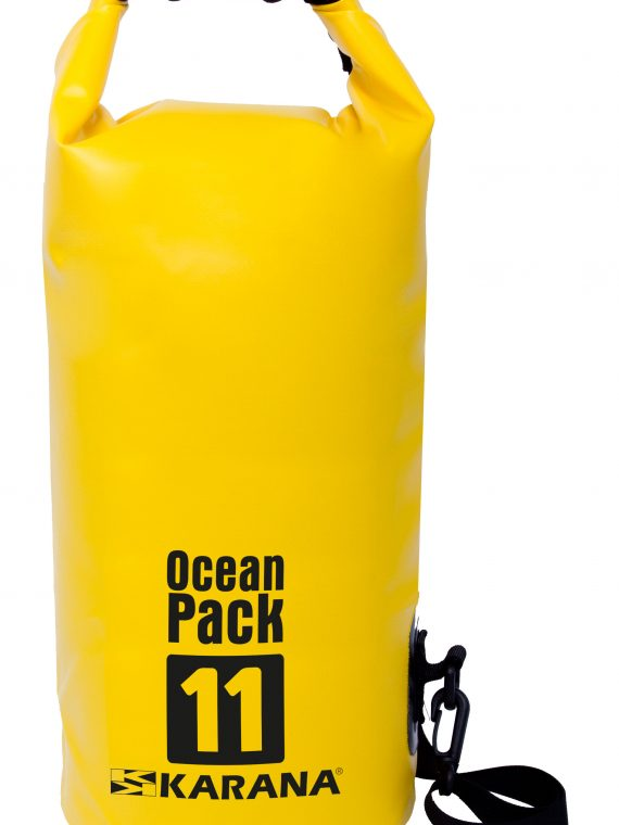Ocean Pack dry bag by Karana, 11 liters, yellow