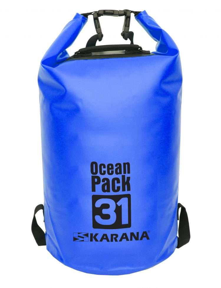 Ocean Pack dry bag by Karana, 31 liters, blue