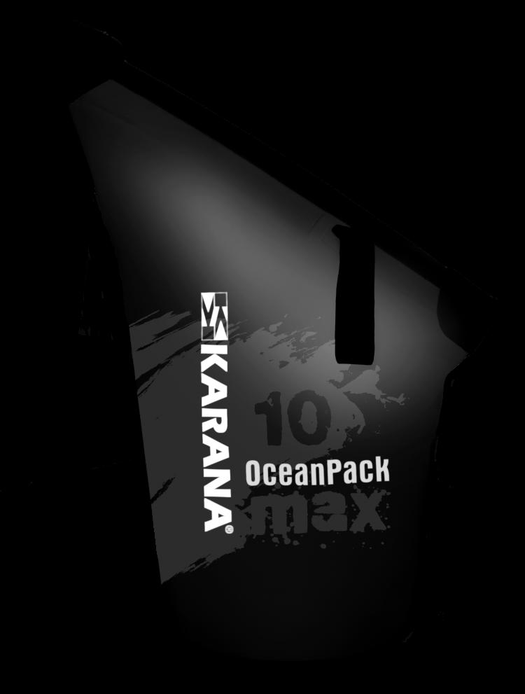 Ocean Pack max dry bag by Karana, 10 liters, black