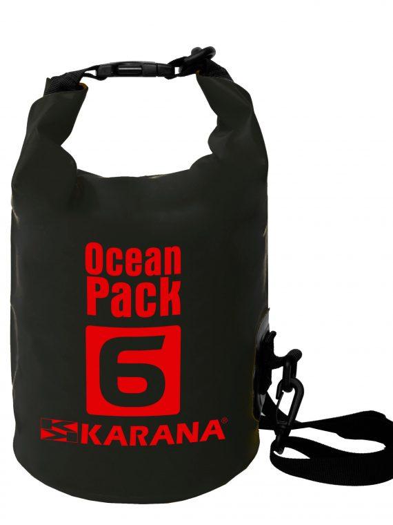 Ocean Pack Trockentasche von Karana, 6 Liter, schwarz