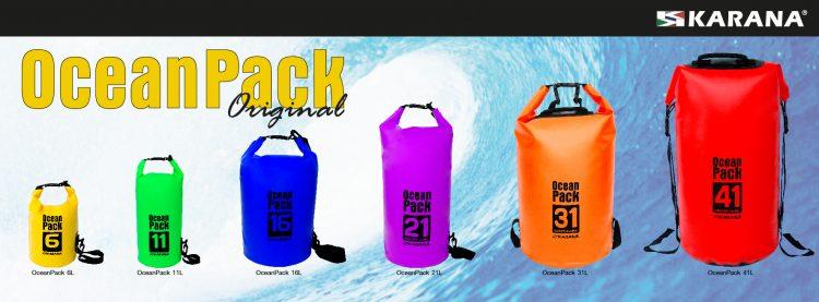 Ocean Pack Trockentasche von Karana, verschiedene Größen und Farben